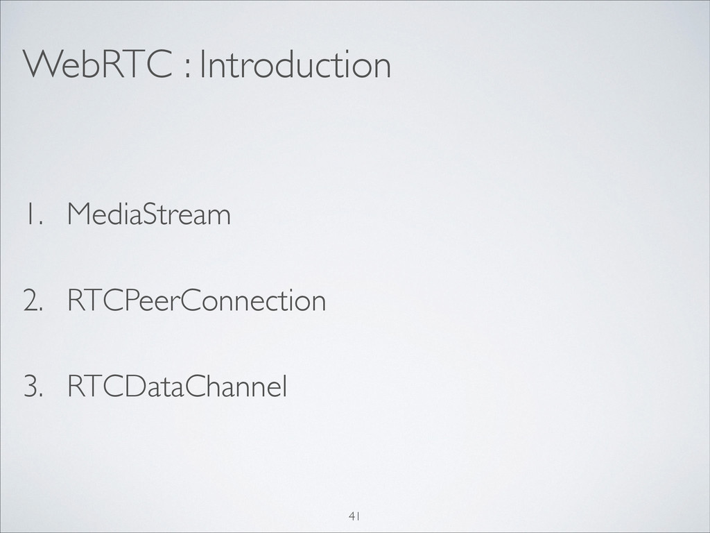 WebRTC : Introduction