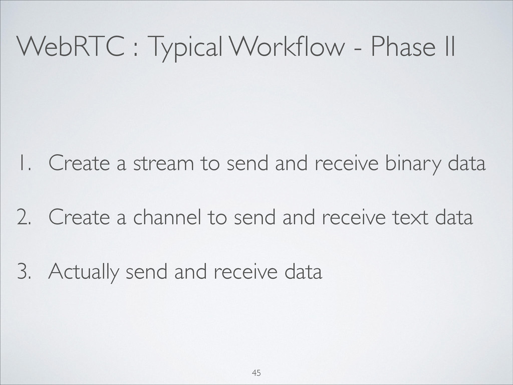 WebRTC : Typical Workflow - Phase II