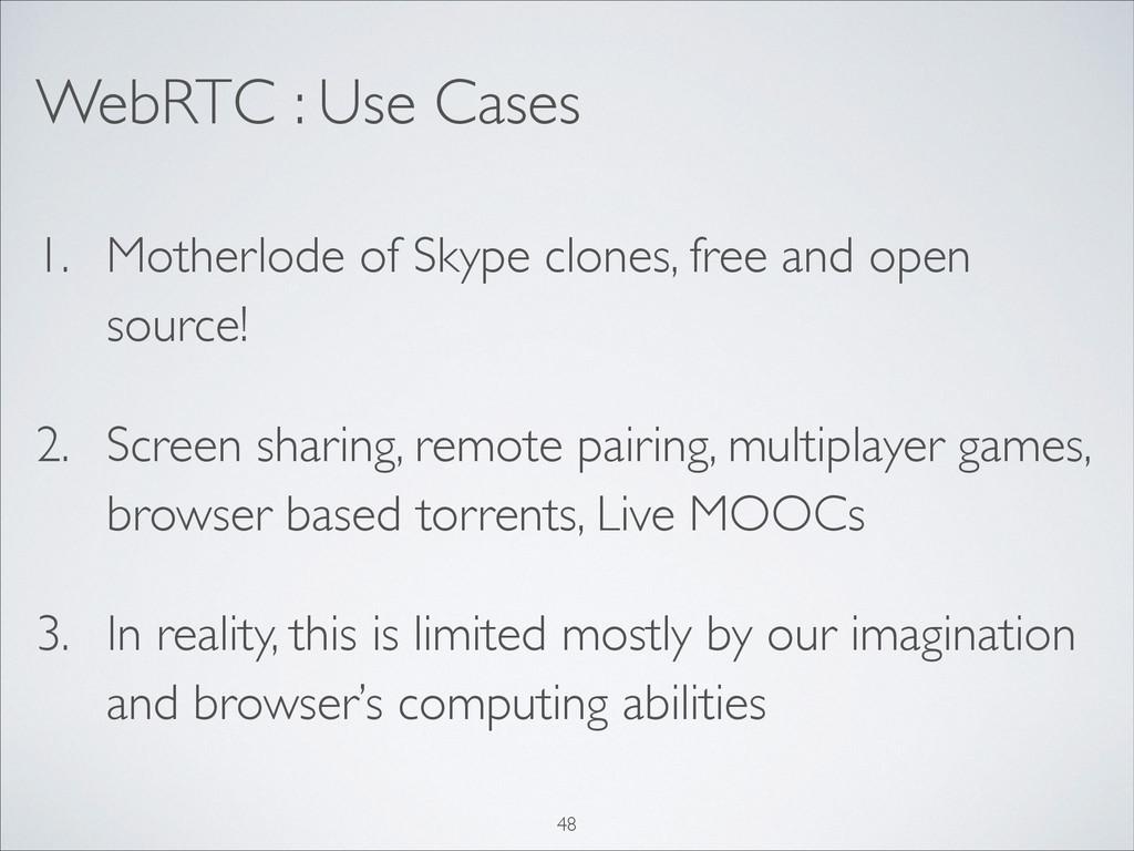 WebRTC : Use Cases