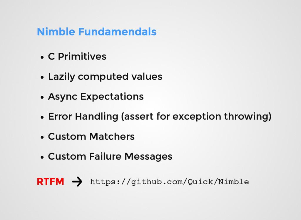 Nimble Fundamendals Nimble Fundamendals C Primi...