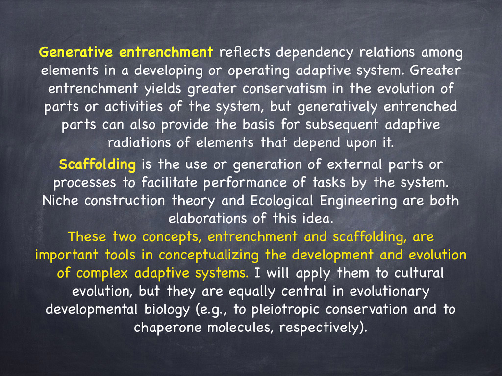Generative entrenchment reflects dependency rela...