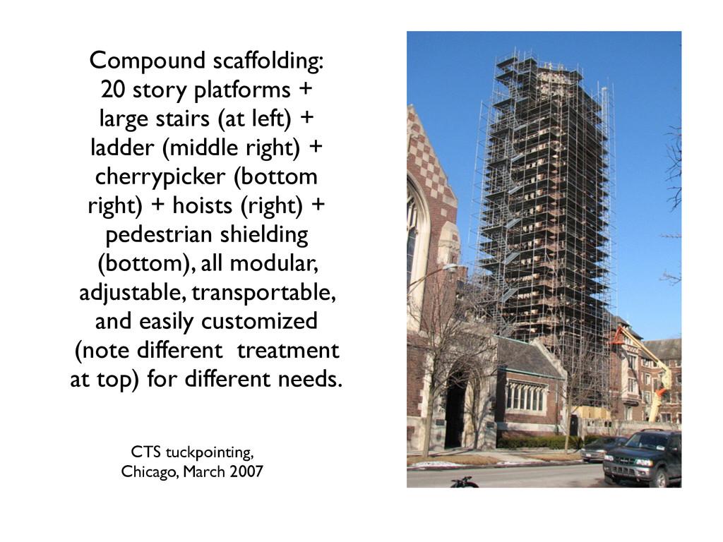 Compound scaffolding:  20 story platforms + ...