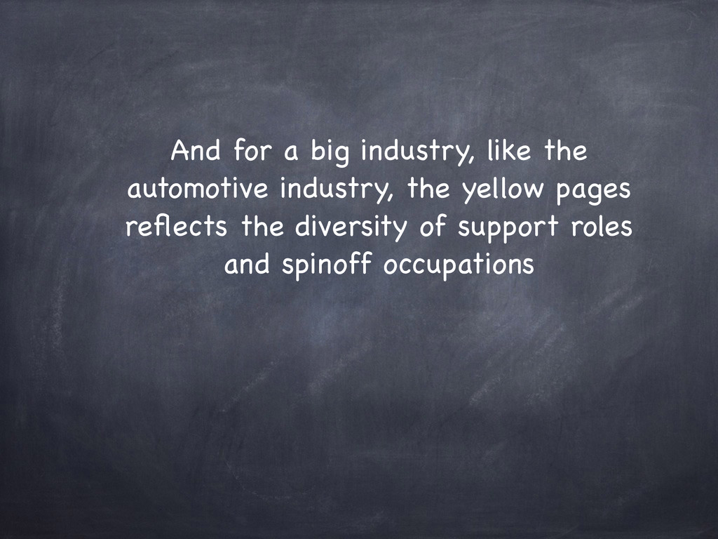 And for a big industry, like the automotive ind...