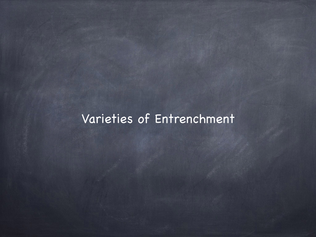 Varieties of Entrenchment