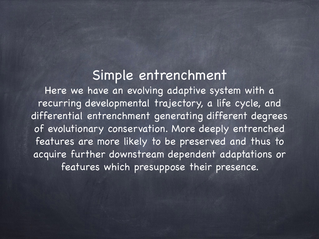 Simple entrenchment  Here we have an evolving ...