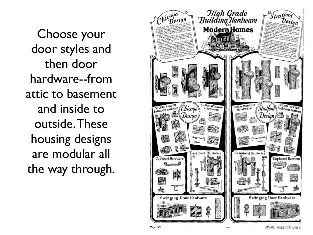 Choose your door styles and then door hardware-...