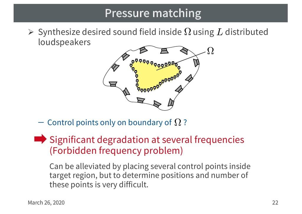 Pressure matching Ø Synthesize desired sound fi...