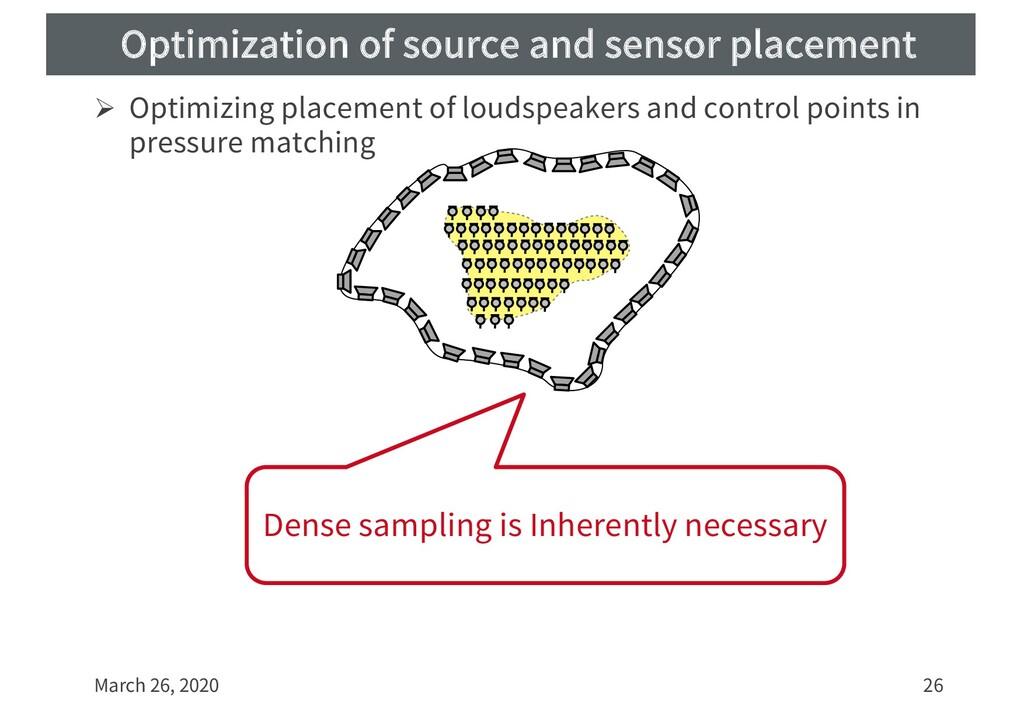 Optimization of source and sensor placement Ø O...