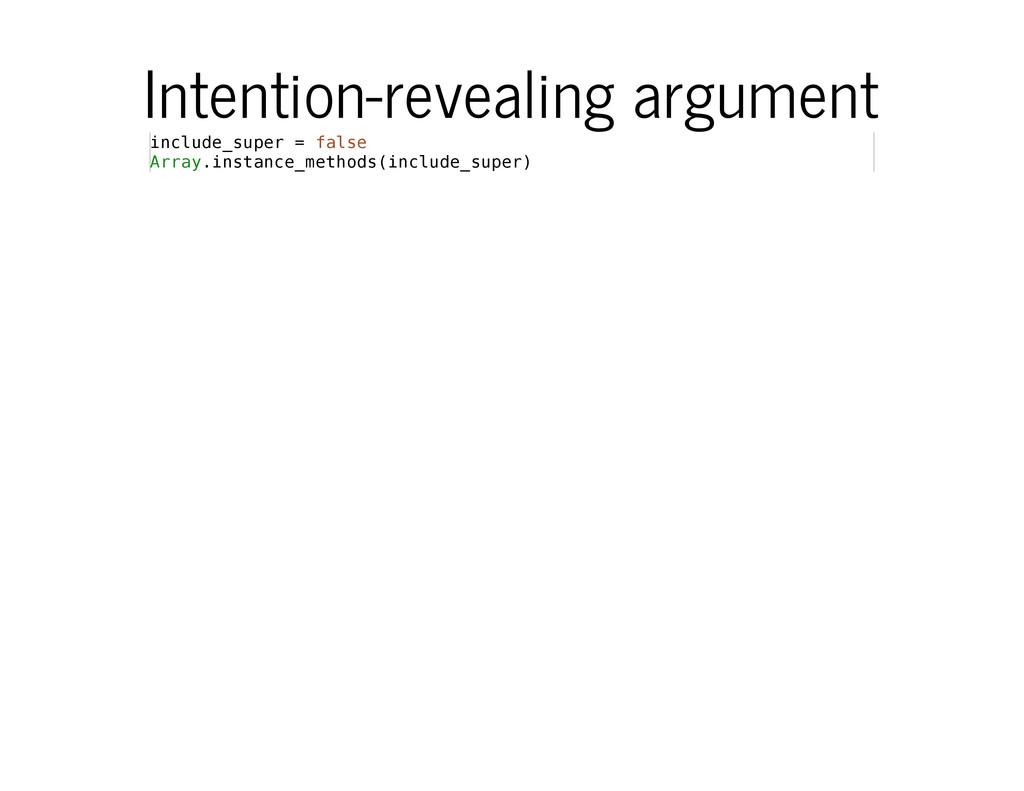 Intention-revealing argument i n c l u d e _ s ...