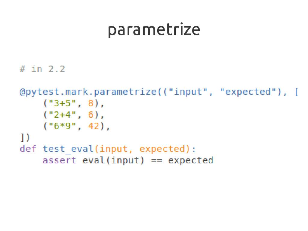 parametrize