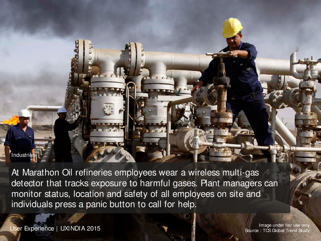 Industries At Marathon Oil refineries employees...