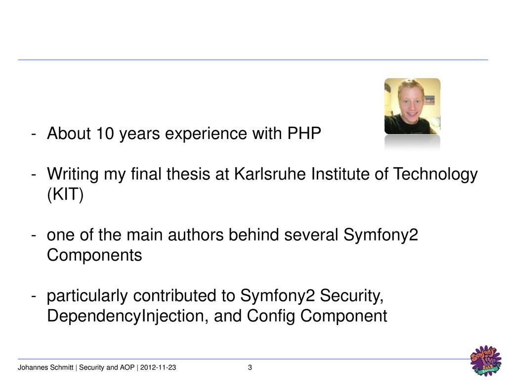 3 Johannes Schmitt | Security and AOP | 2012-11...