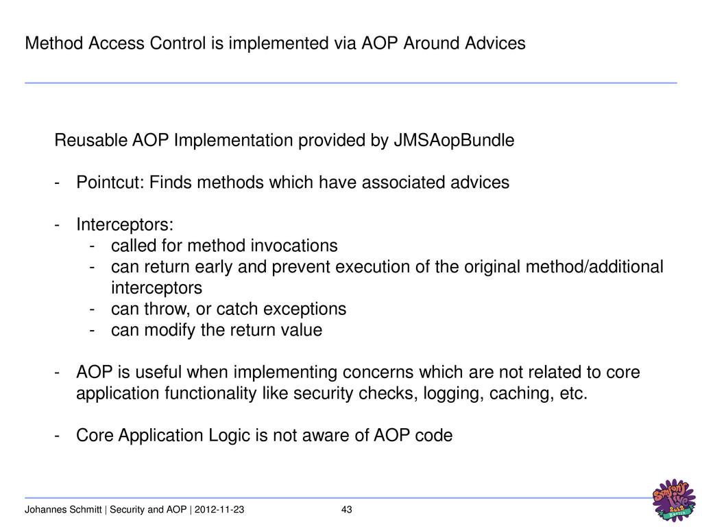 43 Johannes Schmitt | Security and AOP | 2012-1...