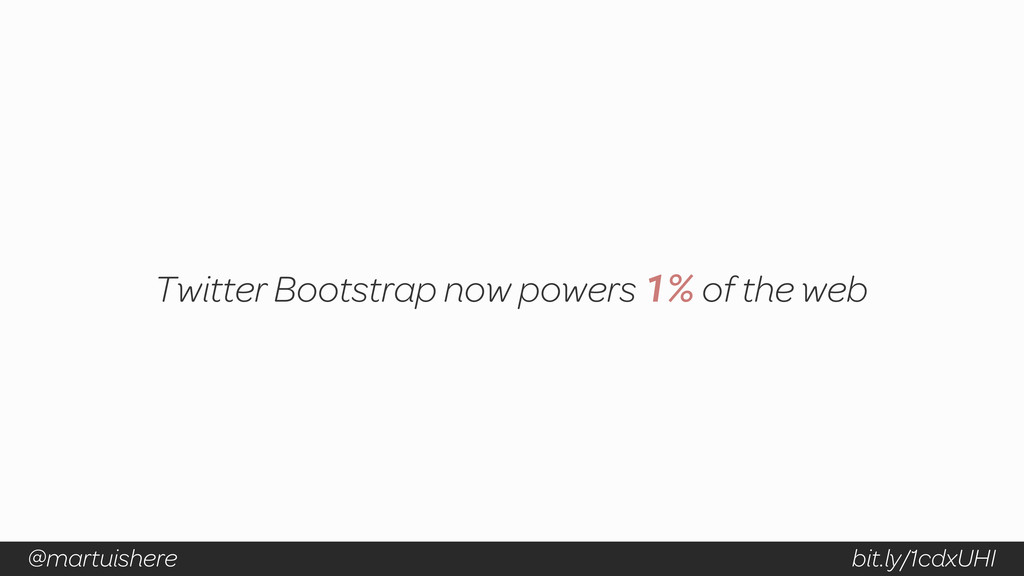Twitter Bootstrap now powers 1% of the web bit....