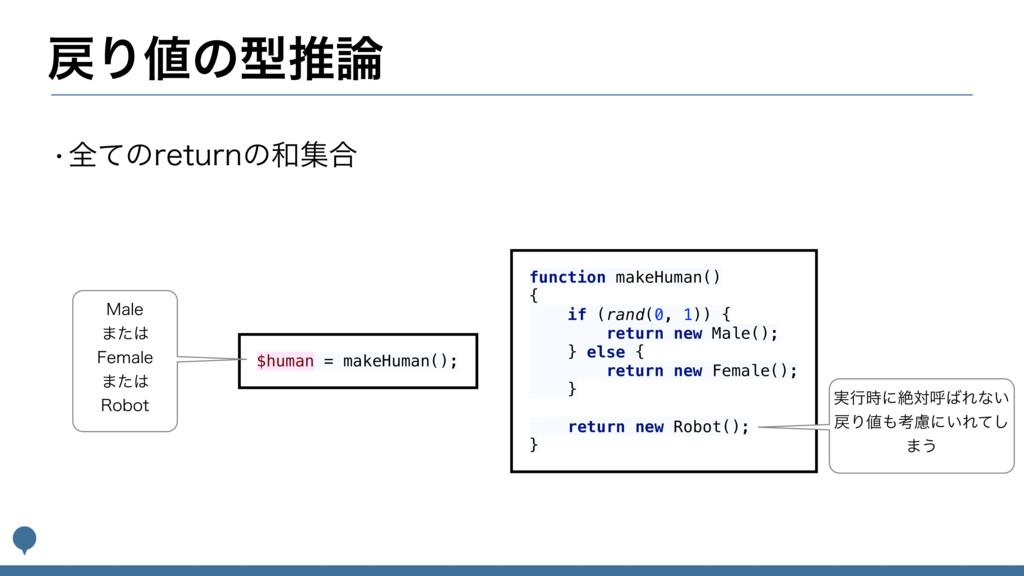 Γͷܕਪ wશͯͷSFUVSOͷू߹ function makeHuman() {...