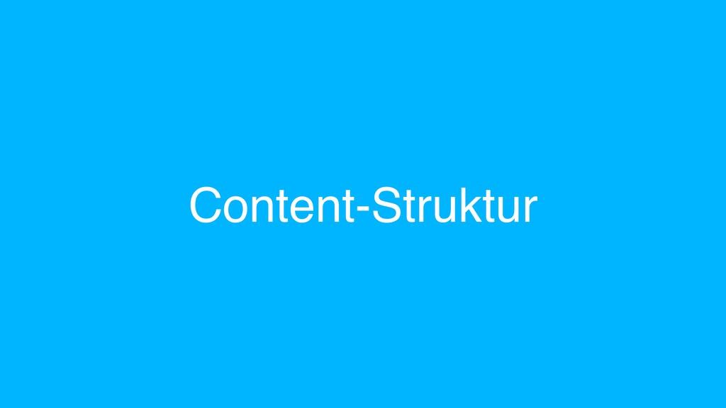 Content-Struktur