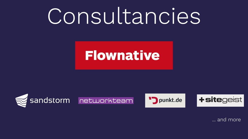 Consultancies ... and more
