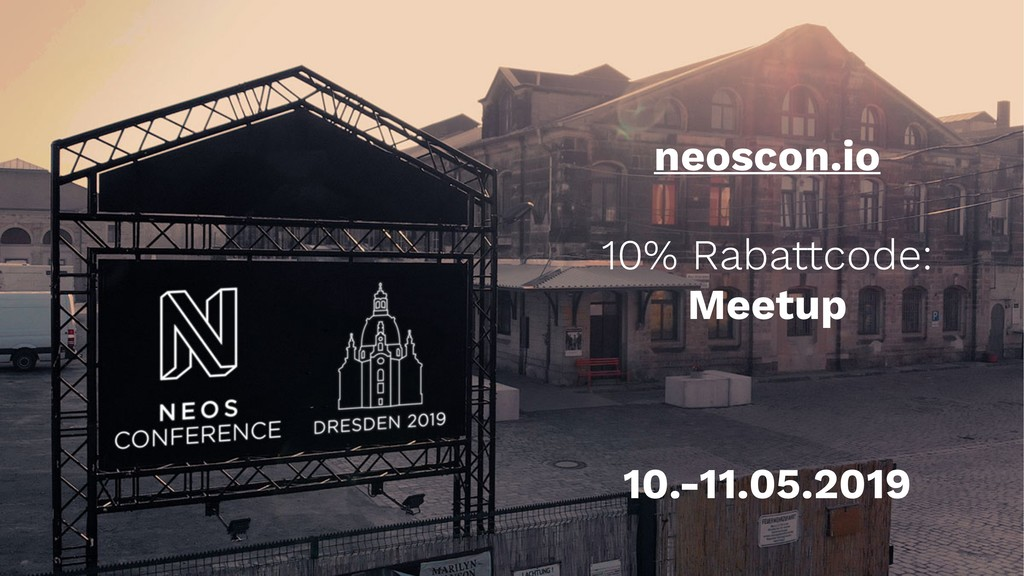 neoscon.io 10% Rabattcode: Meetup 10.-11.05.2019