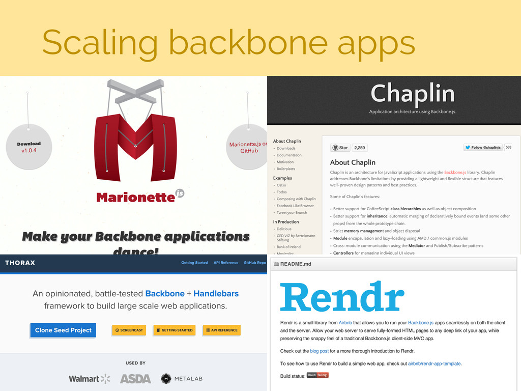 Scaling backbone apps