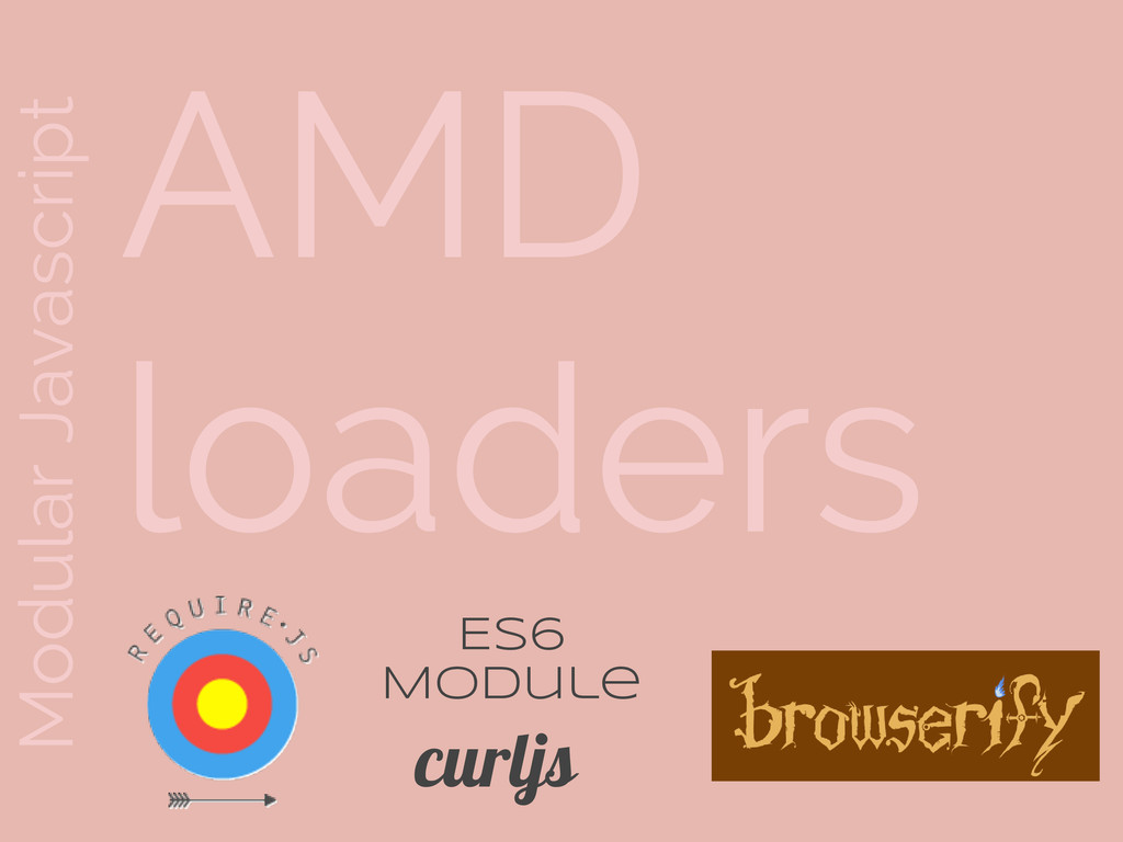 Modular Javascript AMD loaders curljs ES6 Module