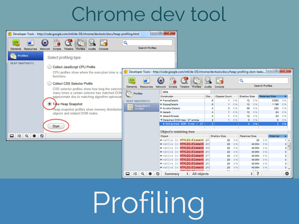 Chrome dev tool Profiling