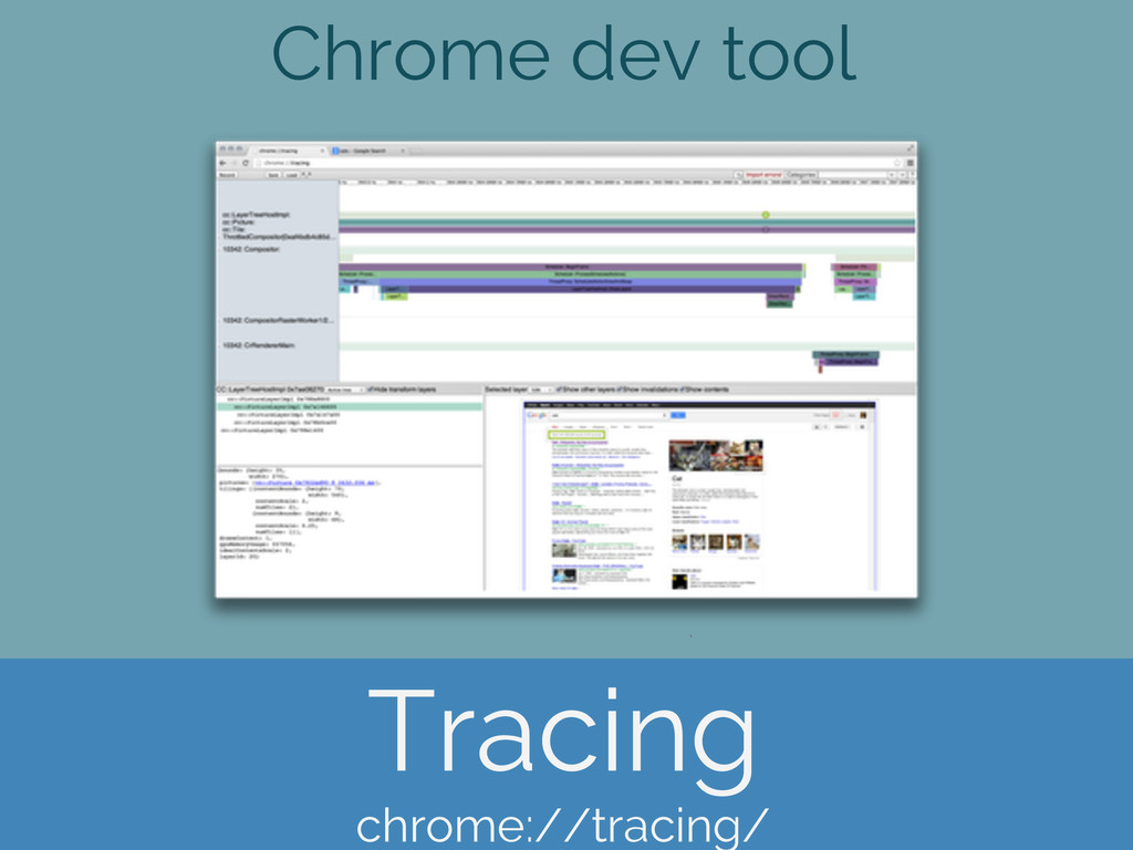 Chrome dev tool Tracing chrome://tracing/