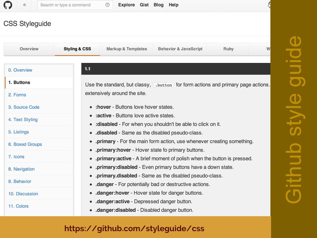 Github style guide https://github.com/styleguid...
