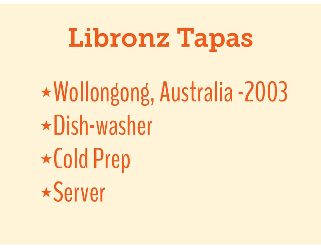 Libronz Tapas ★Wollongong, Australia -2003 ★Dis...