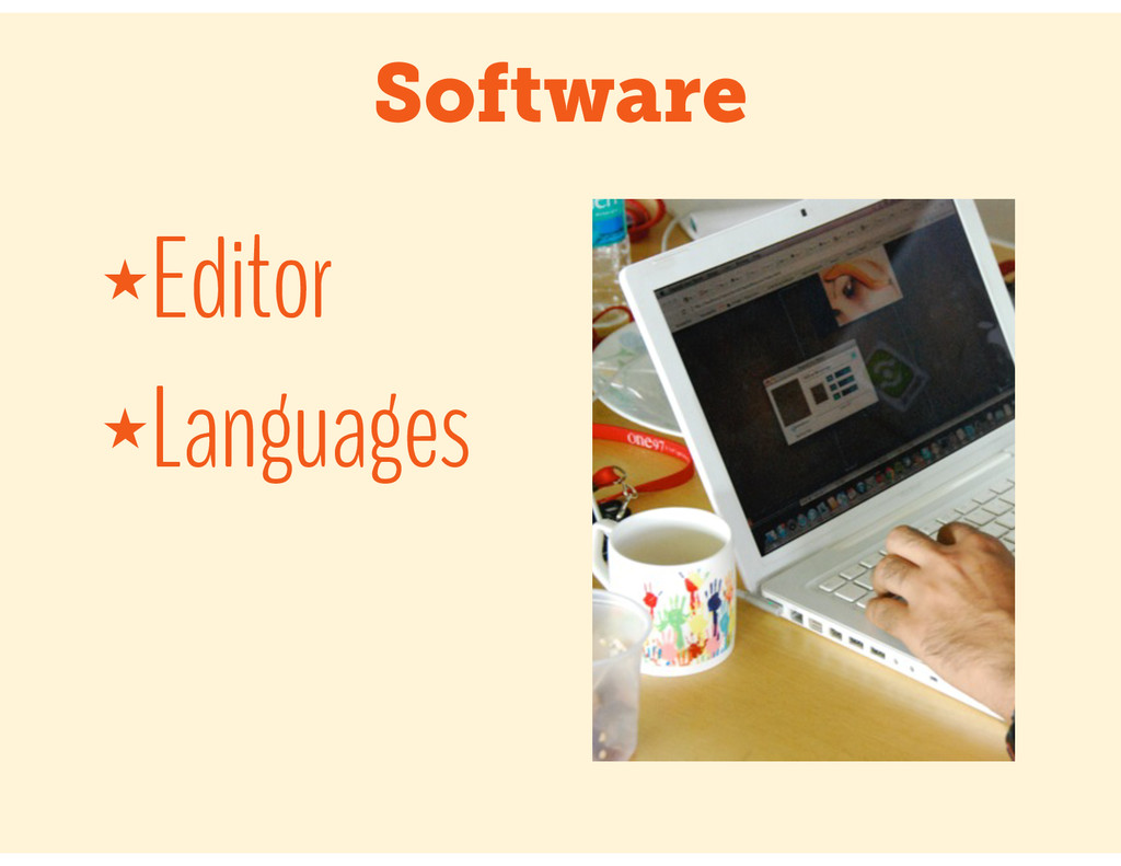 Software ★Editor ★Languages