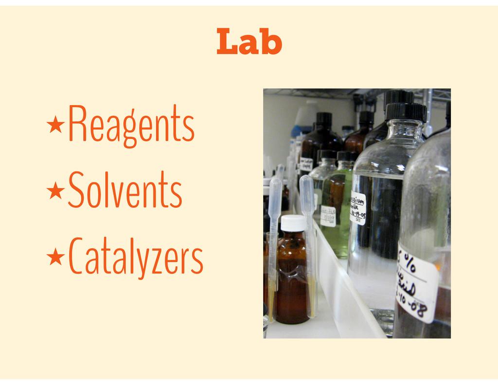 Lab ★Reagents ★Solvents ★Catalyzers