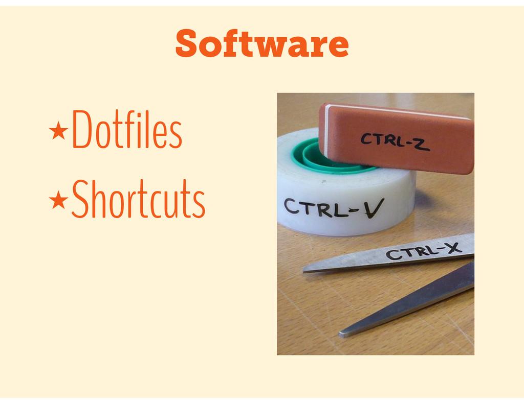 Software ★Dotfiles ★Shortcuts