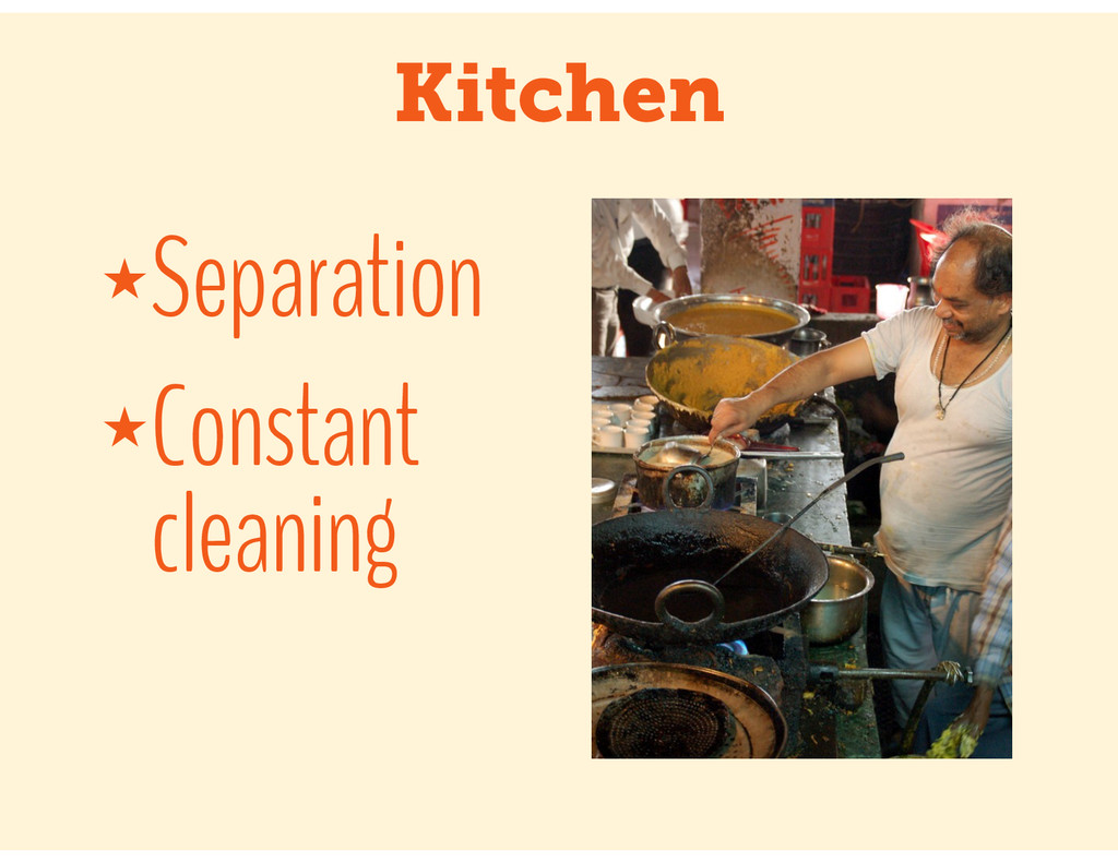 Kitchen ★Separation ★Constant cleaning