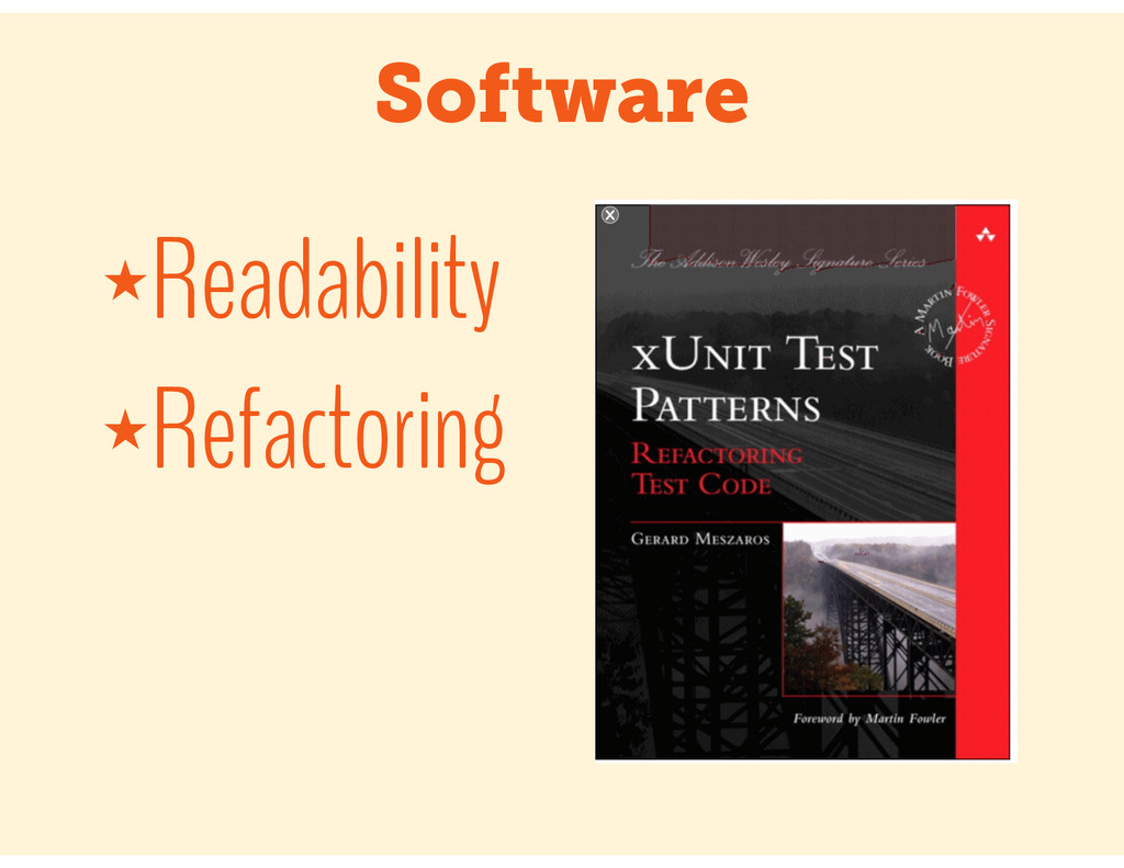 Software ★Readability ★Refactoring