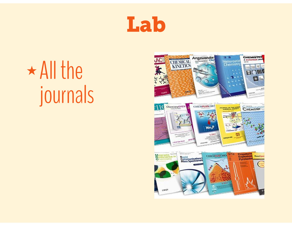 Lab ★ All the journals