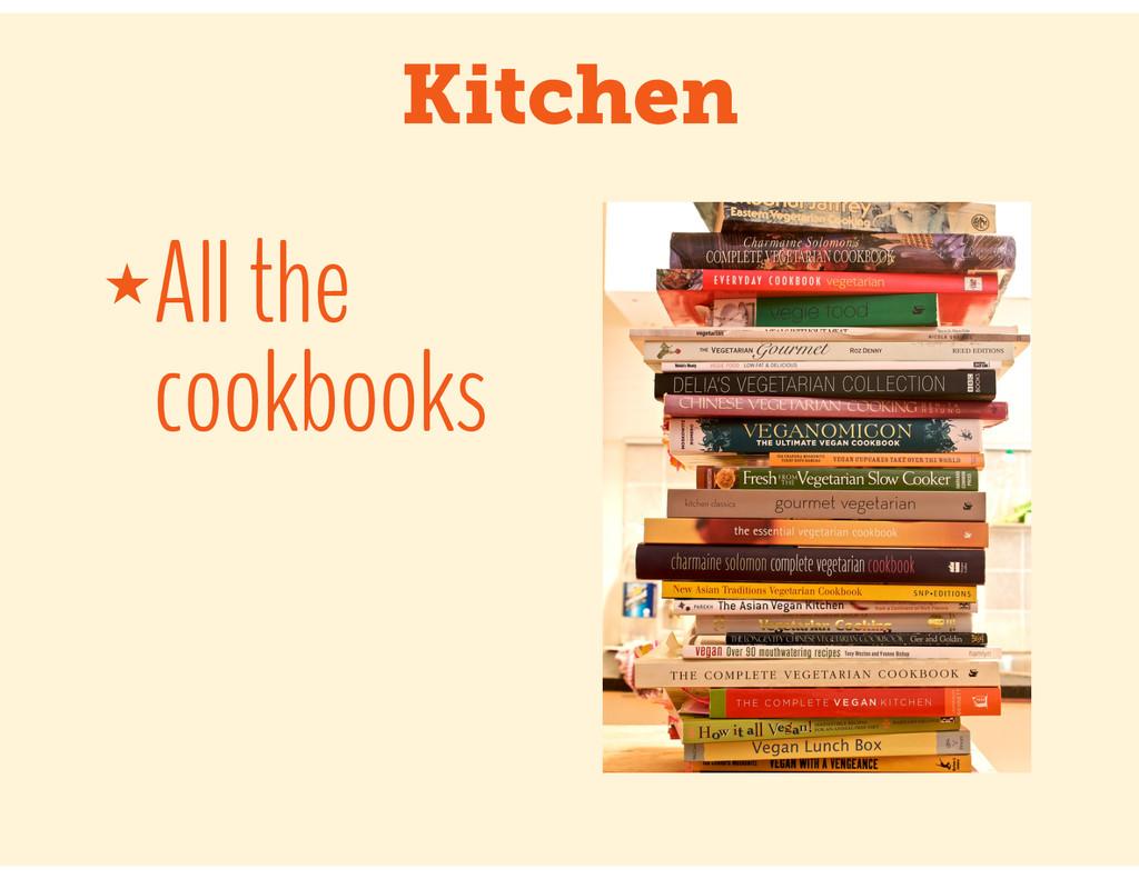 Kitchen ★All the cookbooks