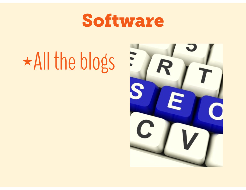 Software ★All the blogs