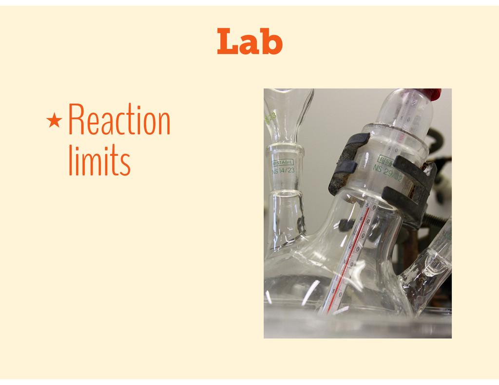 Lab ★ Reaction limits