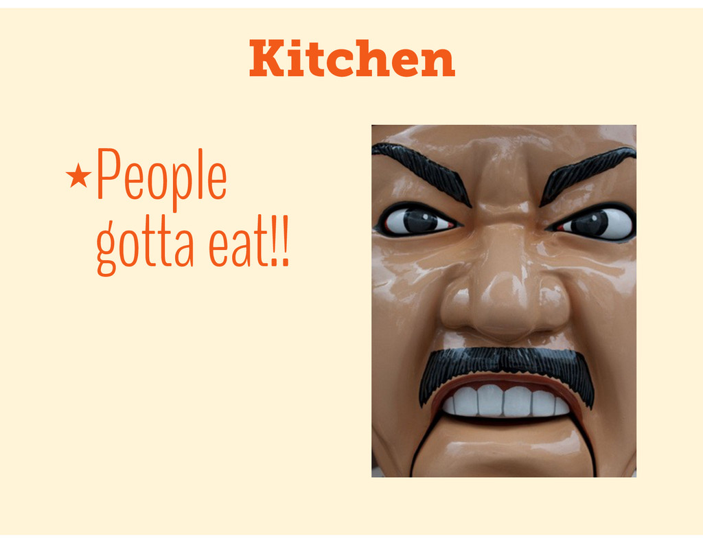 Kitchen ★People gotta eat!!