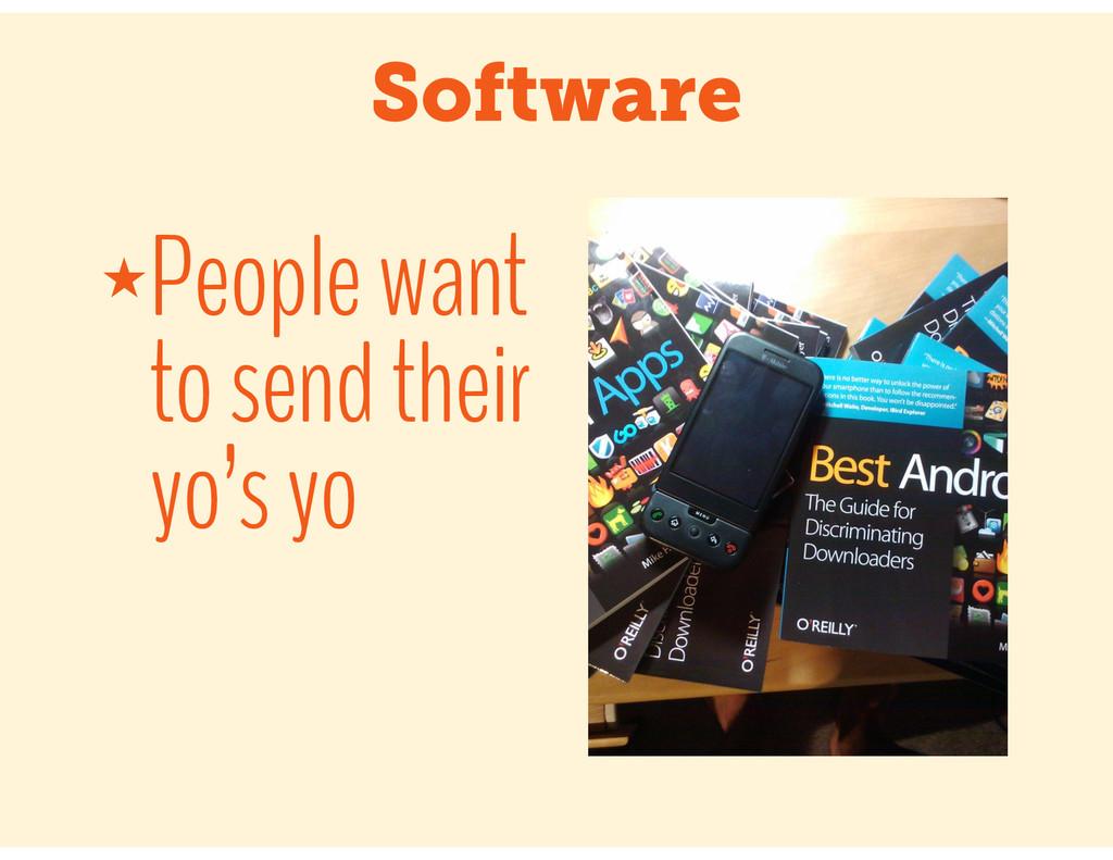 Software ★People want to send their yo's yo