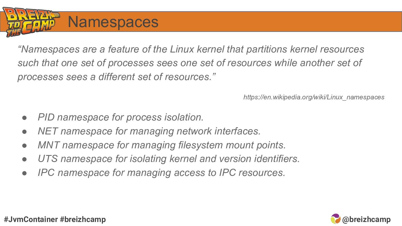 @breizhcamp #JvmContainer #breizhcamp Namespace...