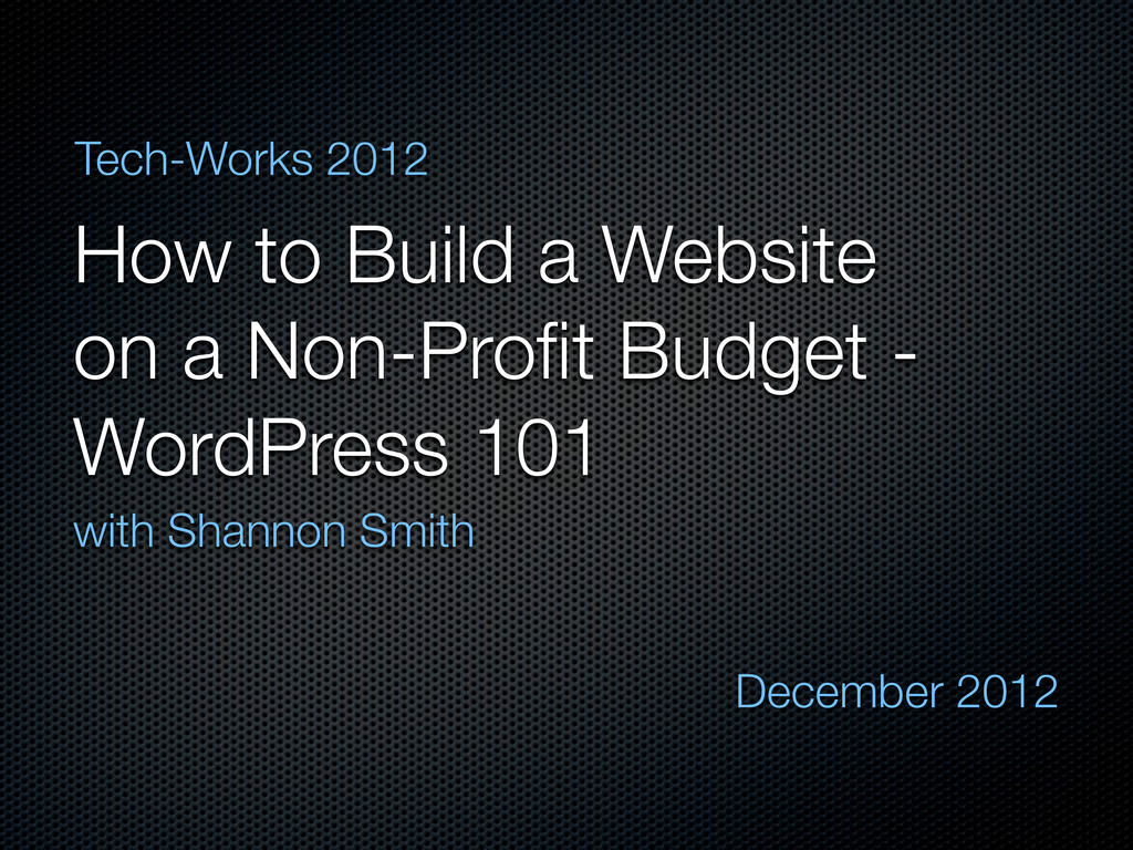 How to Build a Website on a Non-Profit Budget - ...