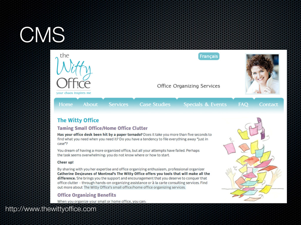 CMS http://www.thewittyoffice.com
