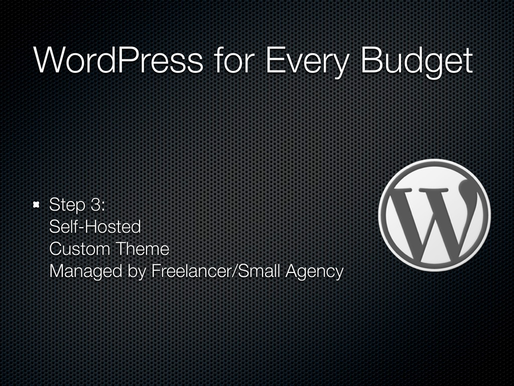 WordPress for Every Budget Step 3: Self-Hosted ...