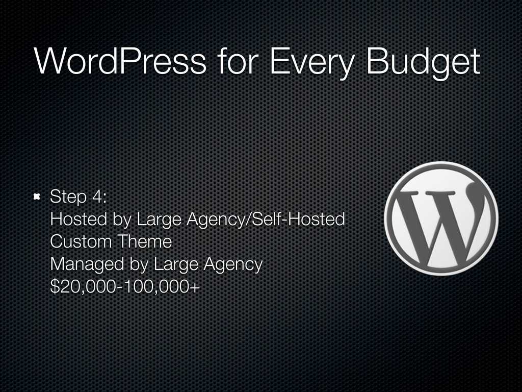 WordPress for Every Budget Step 4: Hosted by La...