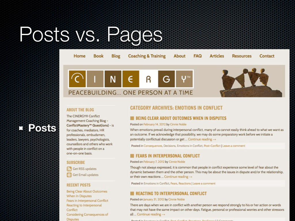 Posts vs. Pages Posts
