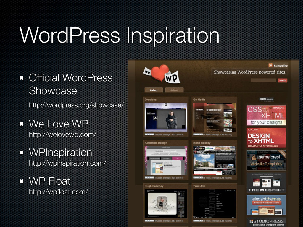 WordPress Inspiration Official WordPress Showcas...