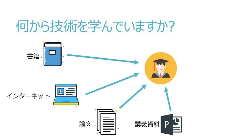 何から技術を学んでいますか? 書籍 インターネット 論文 講義資料