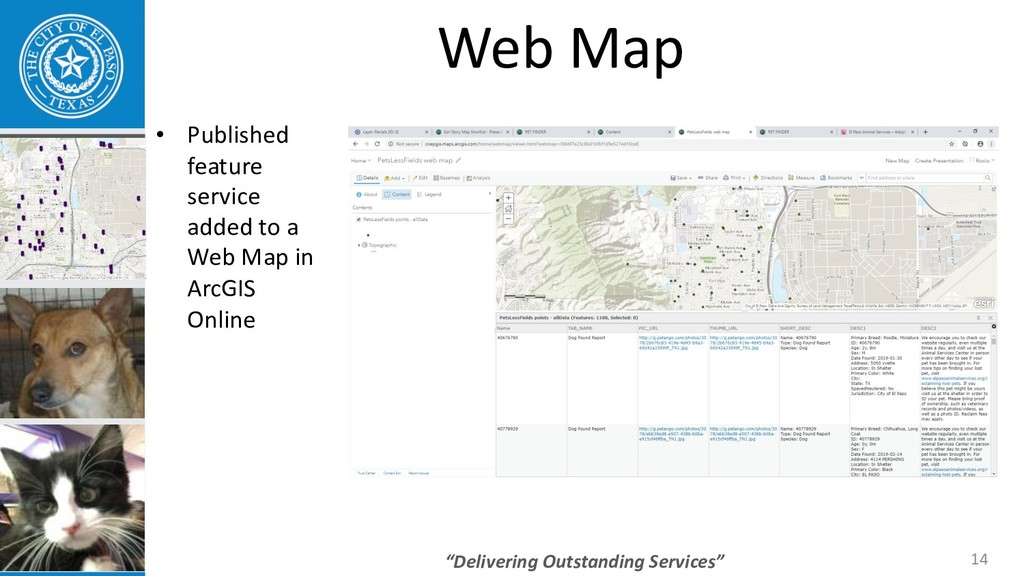 """Delivering Outstanding Services"" 14 Web Map • ..."
