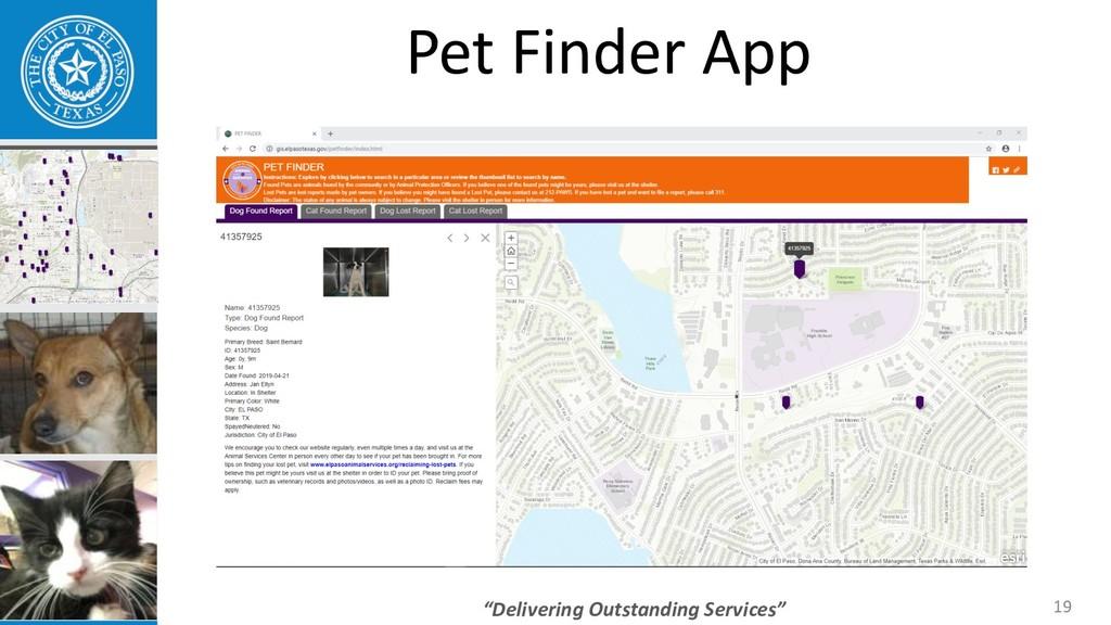 """Delivering Outstanding Services"" 19 Pet Finder..."