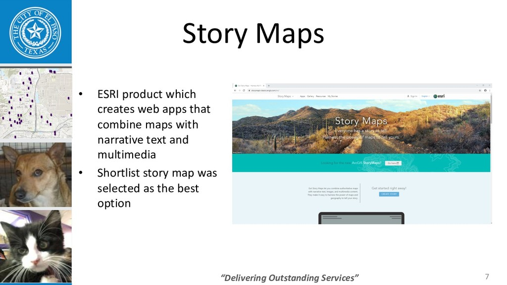 """Delivering Outstanding Services"" Story Maps • ..."